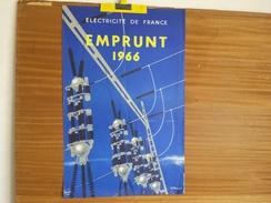 AFFICHE. ELECTRICITE DE FRANCE EMPRUNT 1966. TAUZIN-VILLEMOT. - Affiches