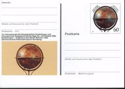 Deutschland 1992 - Postkarte - Sindelfingen (Markenbild: Erdglobus Nach Entwurf Von Martin Behaim) - Geographie