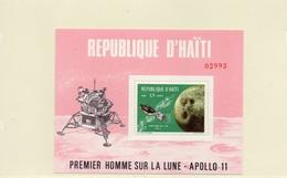 HAITI / Espace Apollo 11 Bloc 1 Valeurs Dentelée Neuve MNH Cote 10.00 Vente 3.00
