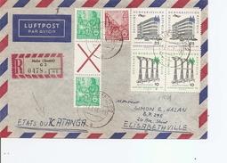 DDR ( Lettre Recommandée  Par Avion De 1961 De Halle Vers Le Katanga à Voir) - [6] Democratic Republic