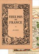 Carte Topographique De L'evesché D'Aire - Vieux Pays De France N°15 Aire Par Les Laboratoires Marinier - Topographical Maps