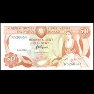 CYPRUS 1989 50 CENTS BANKNOTE EXTF++ - Chypre