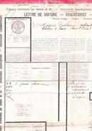 Lettre De Voiture Des Chemins De Fer, De Meirelbeke à Chalon-sur-Saône (1919) - Transport