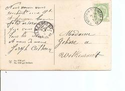 Belgique ( CP De 1912 De Houtain-Saint-Siméon En Oblitération Relais Vers Welkenraedt à Voir)