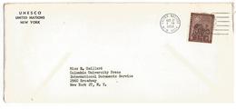 ONU NEW YORK LETTRE DU 22/10/1953 - Lettres & Documents