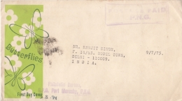 Papua New Guinea  1976  POSTAGE PAID  P.N.G.  Cover To India  #  94882 - Papouasie-Nouvelle-Guinée