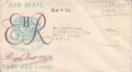 Papua New Guinea  1976  POSTAGE PAID  P.N.G.  Cover To India  #  94885 - Papouasie-Nouvelle-Guinée