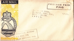 Papua New Guinea  1975  POSTAGE PAID  P.N.G.  Cover To India  #  94883 - Papouasie-Nouvelle-Guinée