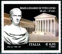 ITALIA / ITALY 2017** - Bimillenario Di Tito Livio - 1 Val. MNH Autoadesivo Come Da Scansione. - Scultura