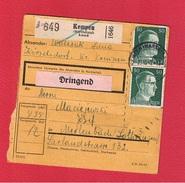 Colis Postal  --  Départ Kempen  --  02/11/1942 - Allemagne