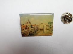 Beau Pin's , Peinture , Art , Le Pont De Moret Sur Loing De Sisley - Pin's