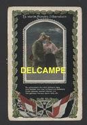 DF / GUERRE 1914 - 18 / 1914 CARTE PATRIOTIQUE ALLEMANDE / SOLDAT ET SA BELLE AU CLAIR DE LUNE - War 1914-18