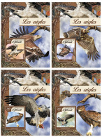 DJIBOUTI 2016 ** Eagles Adler Aigles 4S/S - OFFICIAL ISSUE - DH1718 - Arends & Roofvogels
