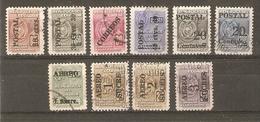 Equateur - 1949/52 - Petit Lot De 10 Timbres Consulaires Surchargés - Equateur