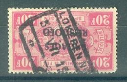 "BELGIE - OBP Nr BA 20 - Cachet  ""LOKEREN Nr ..."" - Ronde Hoek/coin Arrondi - (ref. 12.225) - Cote 22,00 € - Equipaje"