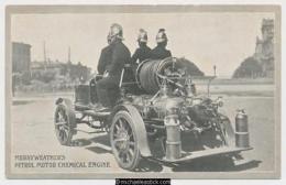 Melbourne Fire Brigade, Merryweather's Petrol Motor Chemical Engine - Cartes Postales