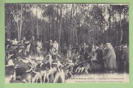 Forêt De BERCEY : Equipage De Champchevrier, La Curée Du Côté De Mayet.  2 Scans. Edition Chevrier - France
