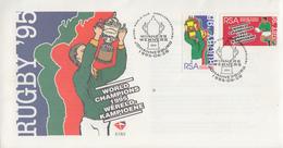 Enveloppe  FDC  1er  Jour    AFRIQUE  DU  SUD     Coupe  Du  Monde  De  RUGBY     1995 - Rugby
