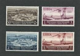 LIBIA Italiana 1940 - 1a Mostra Triennale D'Oltremare - Posta Aerea - MH - Sa:IT-LY A41-44 - Libia
