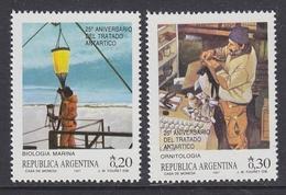 Argentina 1987 Antarctica / 25th. Anniversary Of The Antarctic Treaty 2v ** Mnh (35600) - Ongebruikt