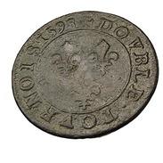 Double Tournois - Henri III - France - 1598 A  - Paris -  Cuivre  - 2,51 Gr. -  TB+ - - 987-1789 Monnaies Royales