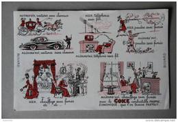 BUVARD COKE - Buvards, Protège-cahiers Illustrés