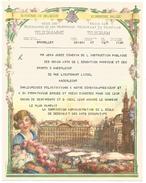 BELGIQUE TELEGRAMME ILLUSTRE MODELE B. 10 - Télégraphes