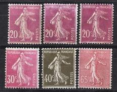 FRANCE 1924 / 1926 - LOT Y.T. N° 190 X 3 / 191 / 193 / 201 - 6 TP NEUFS SANS GOMME - K25 - France