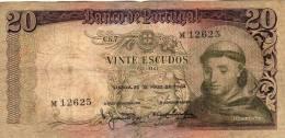 SANTO ANTONIO-BANCO DE PORTUGAL-VINTE ESCUDOS-LISBOA,26 DE MAIO DE 1964 - Portugal