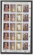 Saint Thomas 1981  IYC AIE Picasso Feuille Complete Imperf - Kindertijd & Jeugd