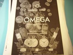 ANCIENNE PUBLICITE MONTRE OMEGA L OR CADEAU IDEAL 1933 - Bijoux & Horlogerie