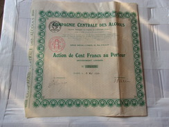 COMPAGNIE CENTRALE DES ALCOOLS - Unclassified