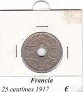 FRANCIA   25 CENTIMES  1917  COME DA FOTO - Francia