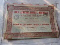 ENTREPRISES AGRICOLES ET INDUSTRIELLES (1920) - Aandelen