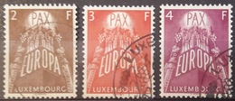 LUXEMBOURG - 1957 - USED/OBLIT.  - PAX - Yv 531-533 Mi 572-574 - Lot 15386