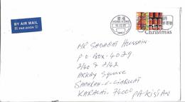 Hong Kong Airmail 2002 Hong Kong Definitive Stamps Slogan Cancellation Christmas - Covers & Documents