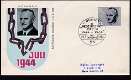 Germany 1964 Mi 0435 Carl Friedrich Goerdeler Lawyer Fdc.............................................................582 - [7] Federal Republic