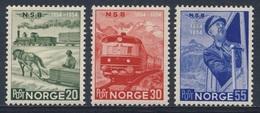 Norway Norge Norwegen 1954 384 /6 YT 349 /1 * MH - Cent. Nowegian Railways / 100 Jahre Norwegische Eisenbahn - Treinen