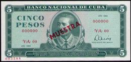 CUBA 5 PESOS 1984 SPECIMEN MUESTRA - Cuba