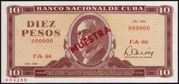 CUBA 10 PESOS 1983 SPECIMEN MUESTRA - Cuba