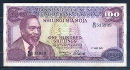 514-Kenya Billet De 100 Shillings 1976 B53 - Kenia