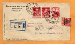 Mexico 1934 Registered Cover Mailed - Mexico