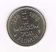 ) PENNING  INSIGNIA AMSTELREDAMI FLORIJN MOKUM 700 - 1275 - 1975 - Pièces écrasées (Elongated Coins)