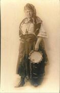 Carte Photo De La Reine Gypsy à NY City En 1921 : Miss Elizabeth McKean As Carmencita (cf Verso) - Artistes