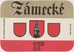 Bier Label Zamecké (from Czech Republic) - Bier