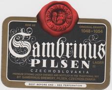 Bier Label Gambrinus From Czech Republic) - Bier