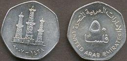 United Arab Emirates UAE 50 Fils 2007 ( 1428 ) XF - Emirats Arabes Unis