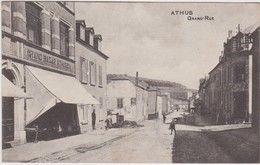 ATHUS-GRAND'RUE-GRAND BAZAR ATHUSIEN ENVOYEE-1908-VOYEZ 2 SCANS-RARE-TOP ! ! ! - Aubange