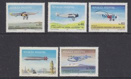 Argentina 1985 Airplanes 5v ** Mnh (35599E) - Ongebruikt