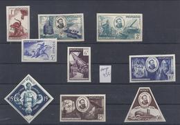 JULES VERNE COLOUR PROOF ESSAIE COULEUR UNICOLOR MONACO IMPERF 1955 No.427-436 Ss 432 ** Elephant Submarine Tank Tour - Monaco